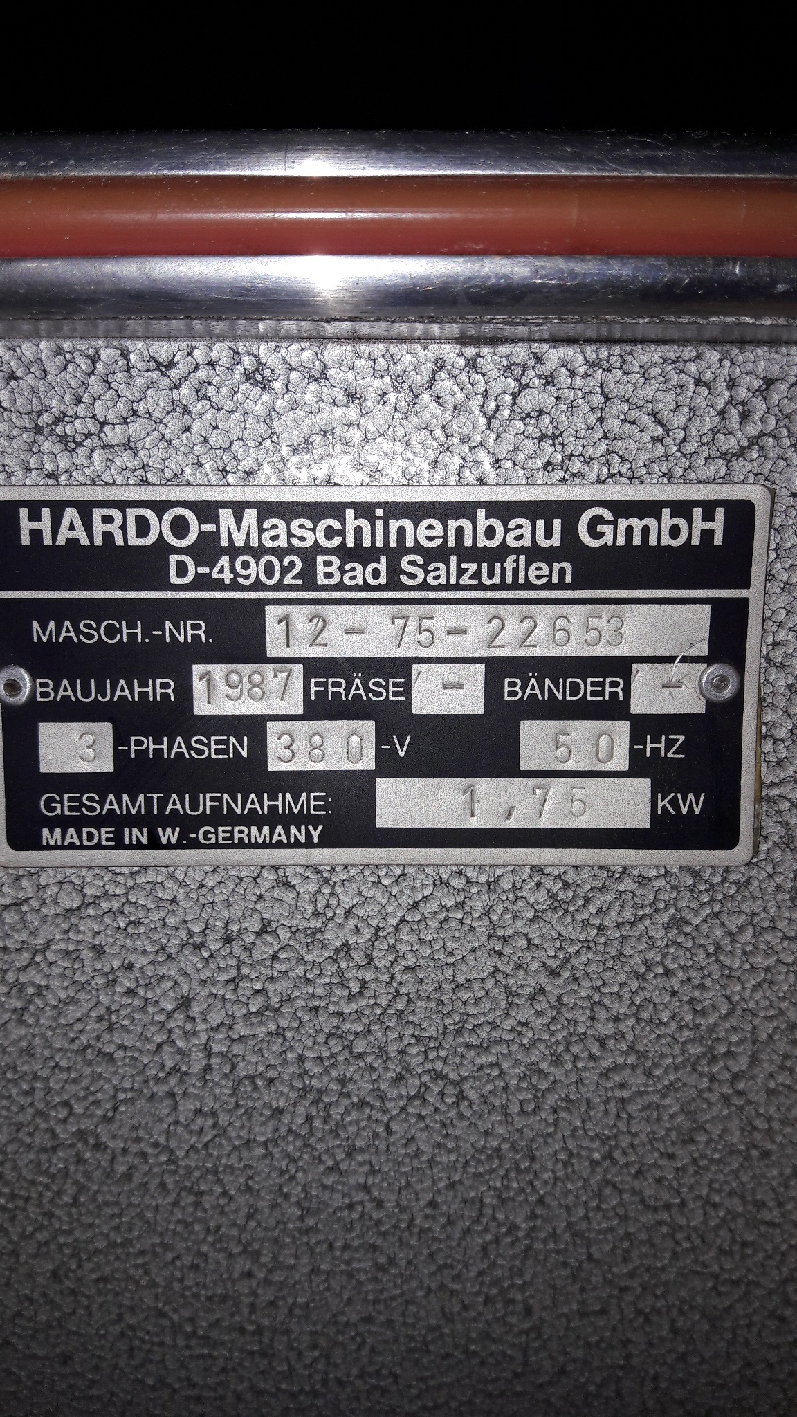 Sieck: HARDO Type 12-75 polishing unit year of manufacture 1987