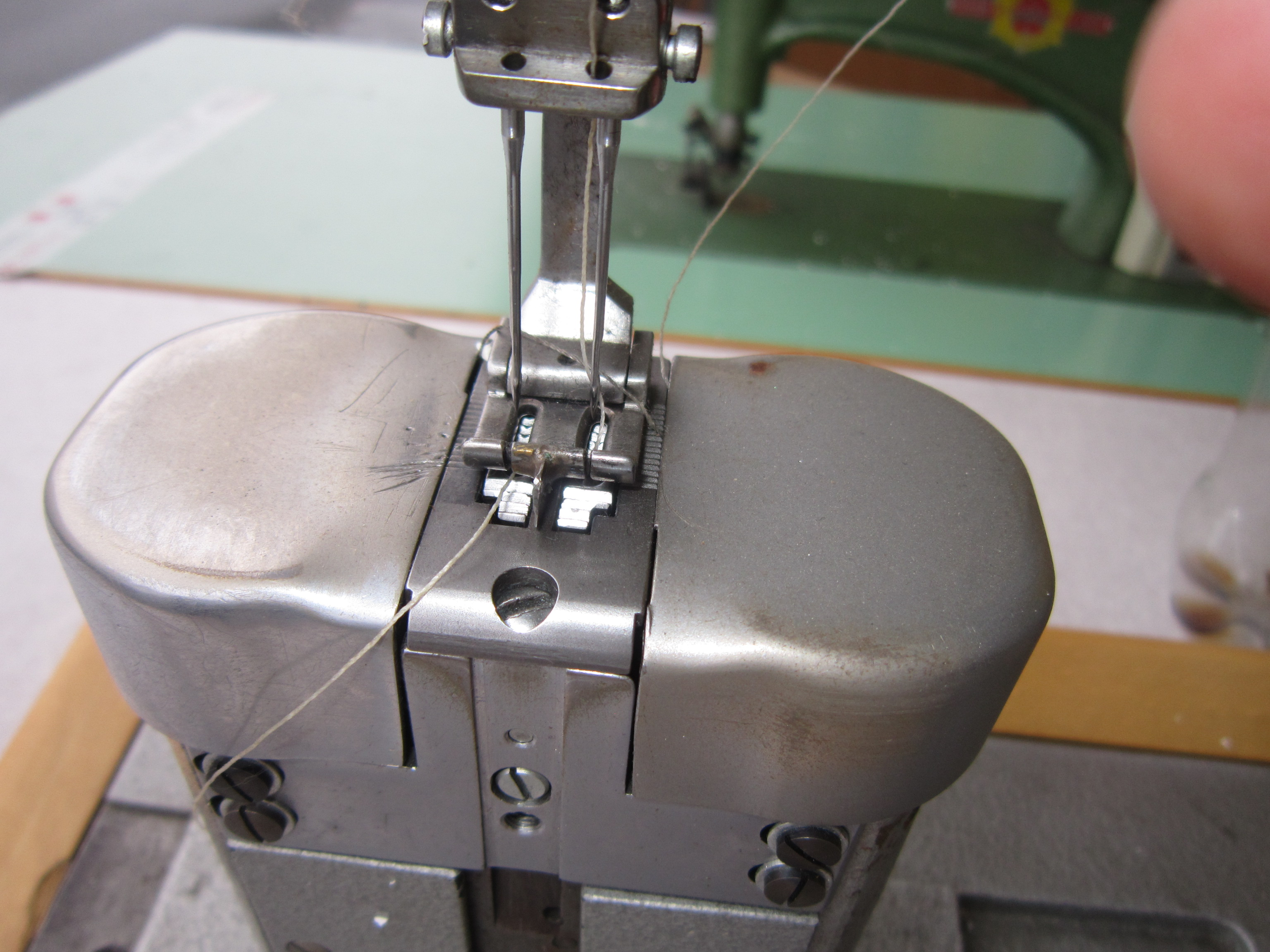 Sieck adler kl 268 263 two needle post bed sewing machine with adler kl 268 263 two needle post bed sewing machine with drop and needle feed 10 mm needle distance complete on table with motor watchthetrailerfo