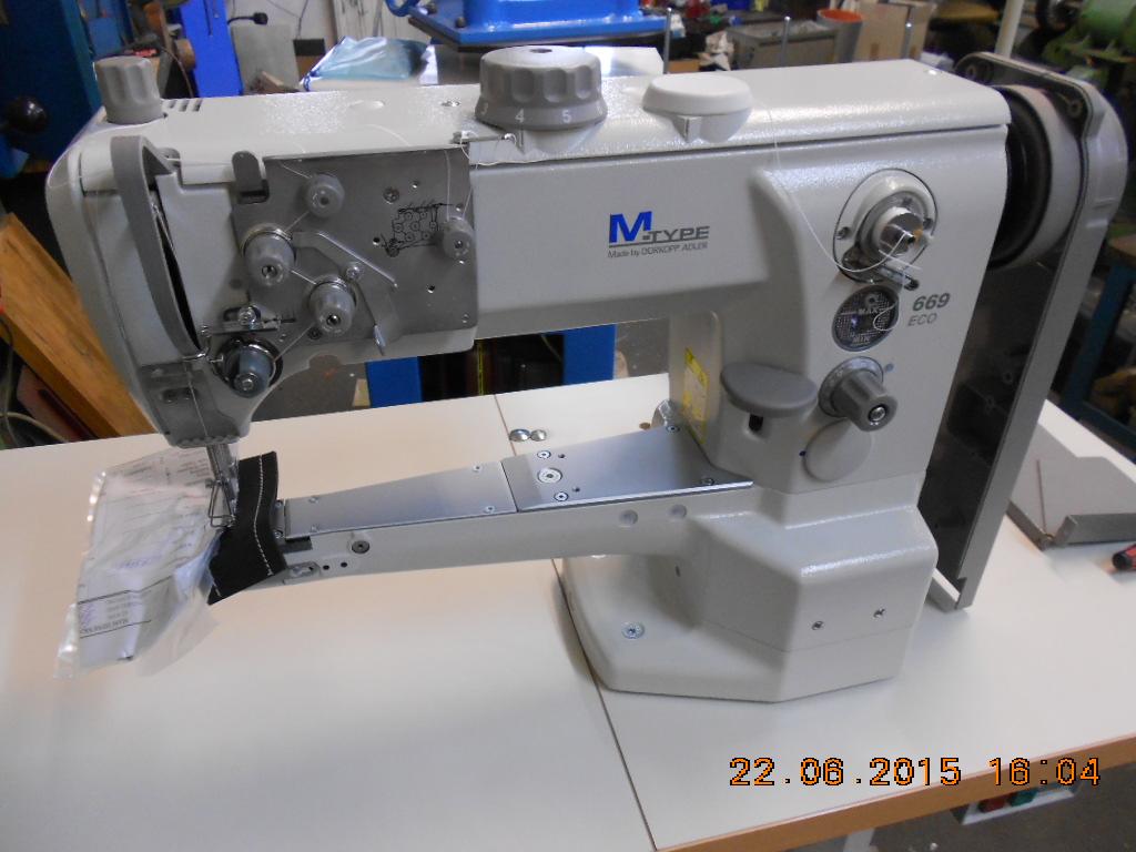 DÜRKOPP ADLER 669 180010 Einnadel-Doppelsteppstich-Freiarmmaschine mit  Horizontalgreifer für den universellen Einsatz, Dreifachtransport, fabrikneu