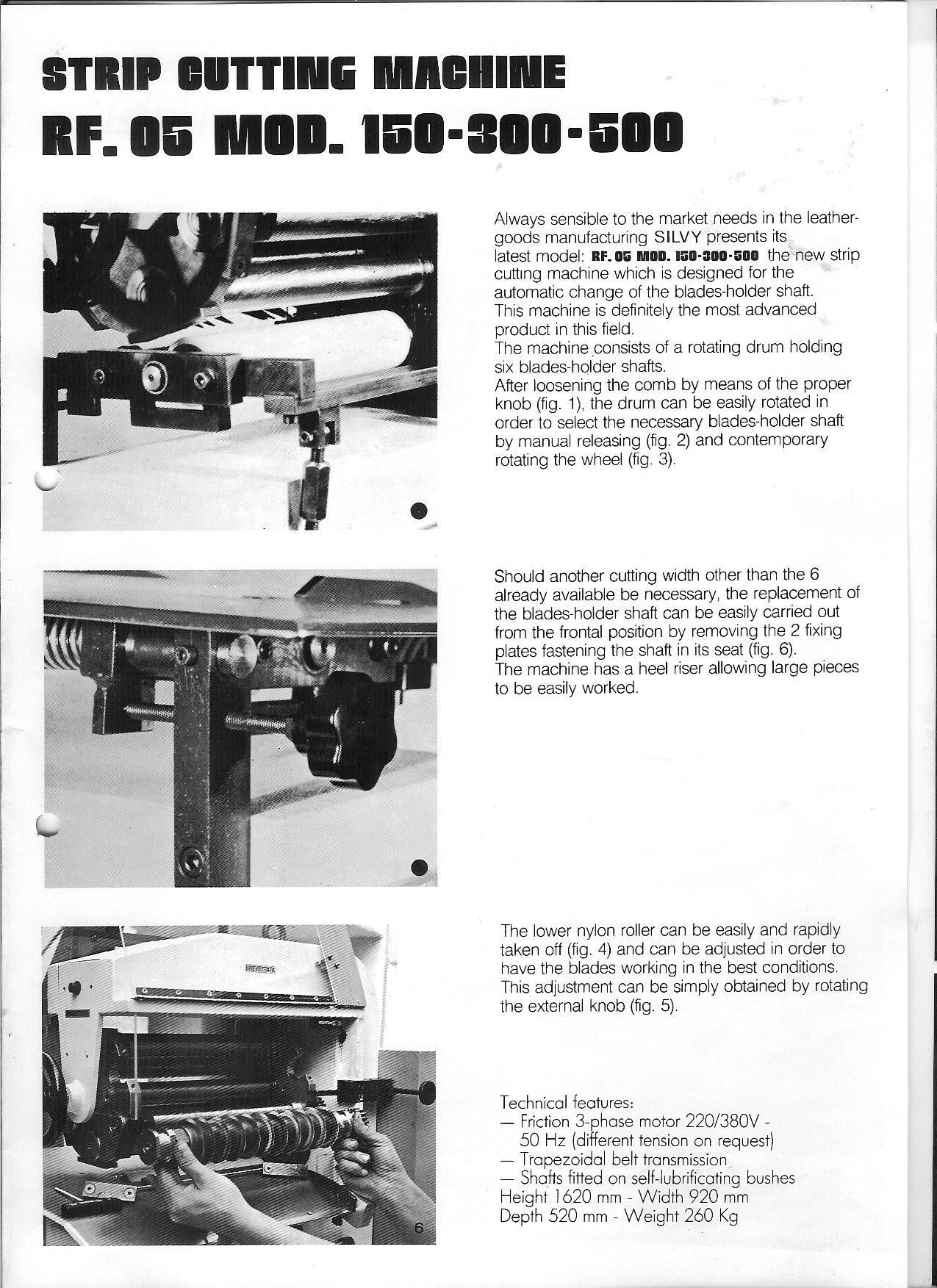 Sieck SILVY Riemenschneidemaschine mit 5 Schneidwalzen